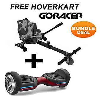 G PRO Red Segway con un Racer Camo Hovercart