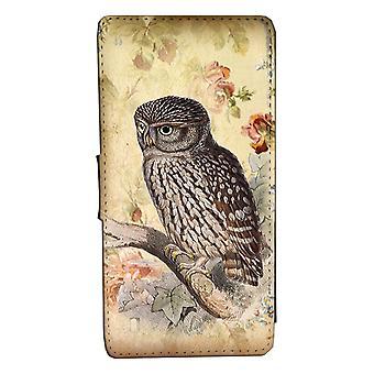 Samsung S8 Vintage Owl Monedero Caso con Concha de imagen
