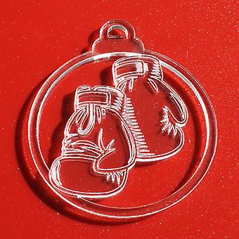 6PKボクシンググローブクリアアクリルクリスマスの装飾