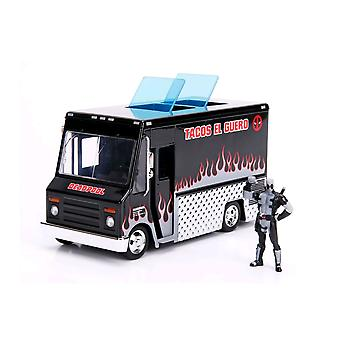Deadpool Food Truck (Black) 1:24 Hollywood Ride