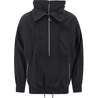 Maison Kitsuné Eu02222wc0012bk Men's Black Nylon Outerwear Jacket