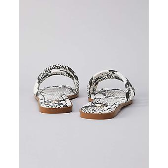 Marque - trouver. Femmes's Tubular Strappy Flat Sandal Shoes, Brown Python)...