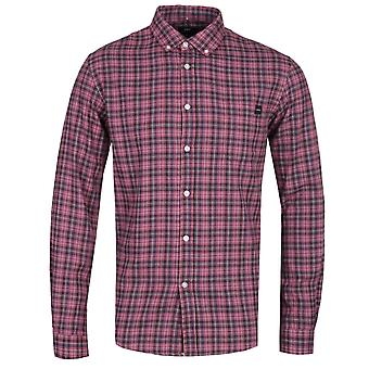 Edwin Standard Oxblood Red Checked Long Sleeve Shirt
