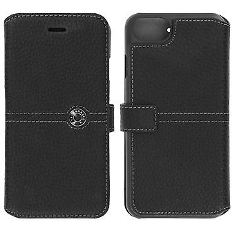 Flip wallet case, Façonnable cover for Apple iPhone 7/ iPhone 8 - Black