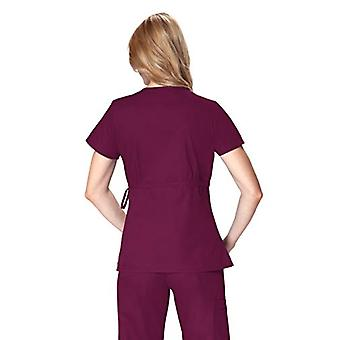 KOI Frauen's Katelyn Easy-fit Mock-wrap Scrub Top mit verstellbarer Seitenkrawatte, Wi...