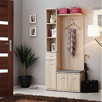 Mobiler Eingang Oxford Color Oak Sonoma in Chip, MDF 30x32x203 cm, 60x32x157 cm