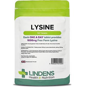 Lindens Lysiini 1000mg Tabletit 50 (1028)