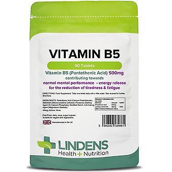 Lindens B5-vitamiini 500mg tabletit 90 (4661)