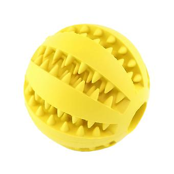 5cm Yellow Dog Pet Toy Chew Clean Rubber Ball