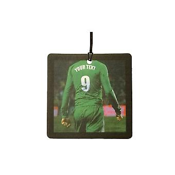 Custom Football / Soccer Player (All Green) Car Air Freshener