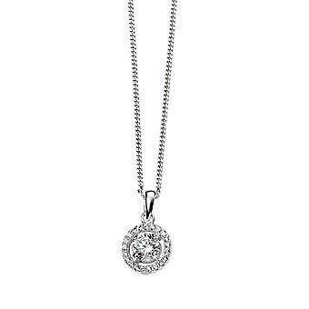 Joshua James Allure Silver & Cz Halo Necklace