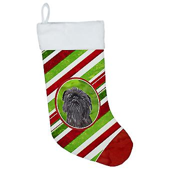 Brussels Griffon Candy Cane Christmas Christmas Stocking