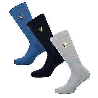 Men's Lyle And Scott Hamiton 3 Pack Socks in Blue