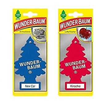 Scented Wunder-Baum (New Car + Cherry) 2-Pack