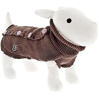 Ferribiella Pullover Pin-Up Cm.24 Braun (Hunde , Kleidung , Mäntel und Kappen)