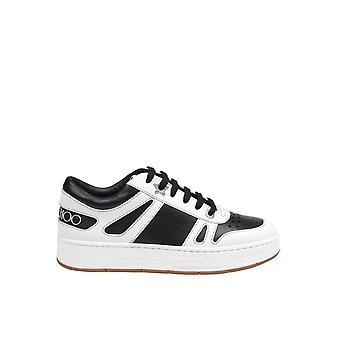 Jimmy Choo Hawaiifahablkwht Women's White/black Leather Sneakers