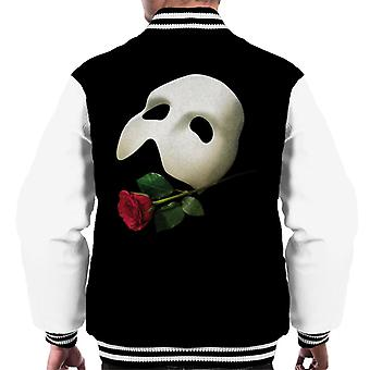 The Phantom Of The Opera Mask & Rose Men's Varsity Jacket