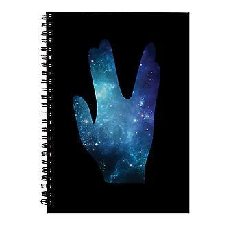 Cuaderno espiral de salute de Star Trek Galaxy Silhouette Vulcan