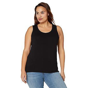 Brand - Daily Ritual Women's Plus Size Jersey Racerback Tank Top, 3X, Black