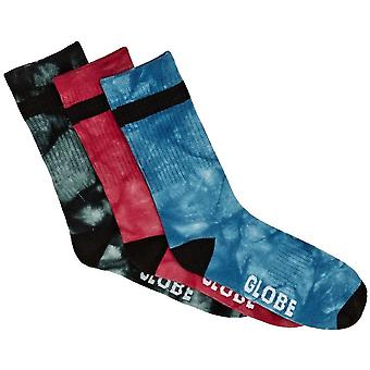 Globe All Tied Up Sock 3 Pack Unisex Socks in Assorted