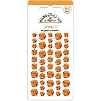 Doodlebug Design Tangerine Jalokivet (45kpl) (3505)