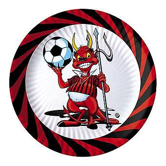 Little Devil Soccer 24cm Papierowe talerze imprezowe