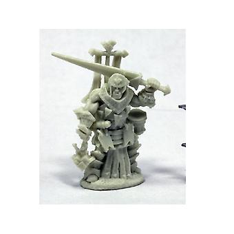 Reaper Miniatures Bones Pathfinder Oloch, Iconic Warpriest