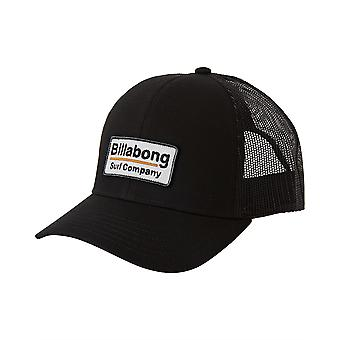 Billabong Men's Snapback Trucker Cap ~ Ommuurd zwart
