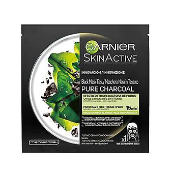 Ansiktsmaske PURE CHARCOAL svart detox Garnier