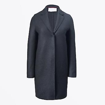 Harris Wharf - Manteau cocoon en laine pressée - Gunmetal