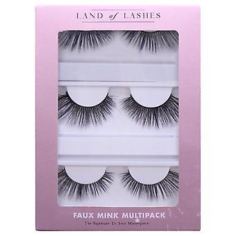 Land of Lashes Faux Mink False Eyelashes Multipack - Sunrise Fake Lash - 3 Pairs