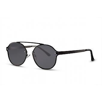 Okulary przeciwsłoneczne Unisex Kat. 3 Panto czarny (CWI1907)