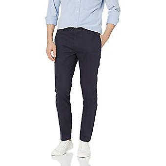 Goodthreads Men's Skinny-Fit Wrinkle Free Dress Chino Pant, Navy, 34W x 33L