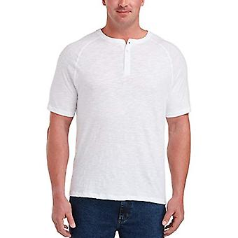 Essentials Men's Big & Tall Short-sleeve Slub Henley T-Shirt adatta da DX...