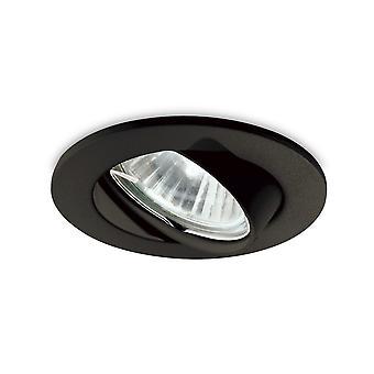 ideell lux - innendørs innfelt downlight lampe 1 lys svart, GU10
