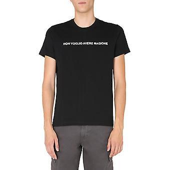 Aspesi Ay47a33501241 Camiseta para hombres y algodón negro