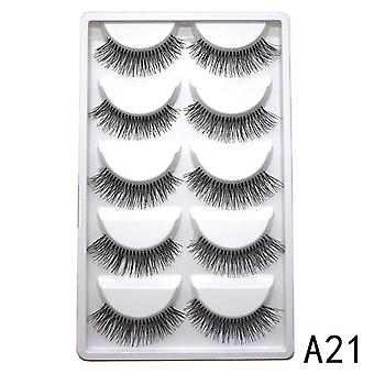 Mink Eyelashes Of Handmade Natural Extended Beauty Makeup False