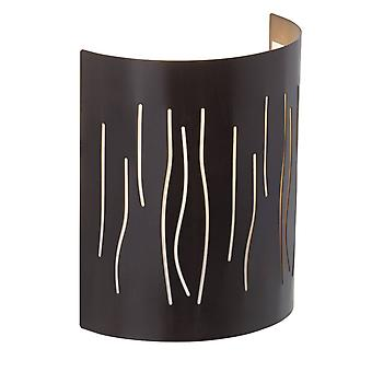 Brilliant Lampada Kinley Wall Half Shell Brown 1x A60, E27, 40W, adatto per lampade normali (non incluse) Scala A