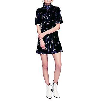 Free People | Be My Baby Velvet Floral Mini Dress
