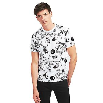 Guess Graffiti T-Shirt - Wit / Zwart