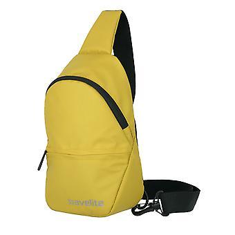 travelite Grunderna liten crossover ryggsäck presenning 29 cm, gul