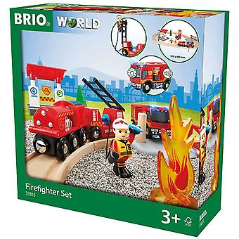 BRIO World Fire & Rescue - Rescue Fire Fighter Set