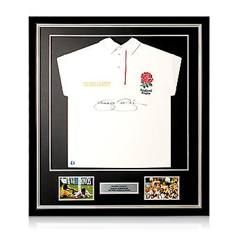 Jason Robinson signiert England Rugby Shirt. Gerahmt