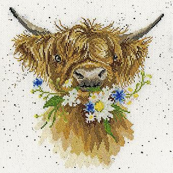Wrendale Designs Daisy Coo (XHD42) Cross Stitch Kit by Bothy Threads