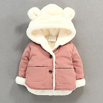 Autumn, Winter Baby Soft Jacket, Cartoon Hooded Coat