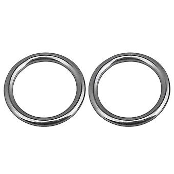 2 Pieces 6x40mm 304 Stainless Steel Ring O Round Ring for Hammock