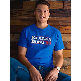 Reagan Bush '84 Miehet&s T-paita