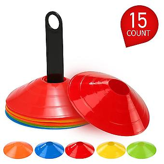 Agility Disc Cone Set Multi Sport Training Space With Plastic Stand Holder