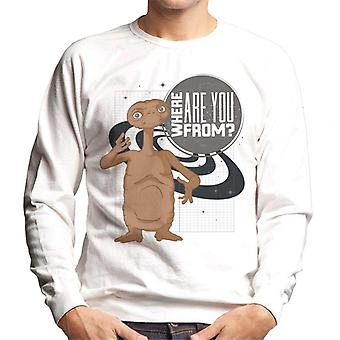E.t. Where Are You From Men's Sweatshirt