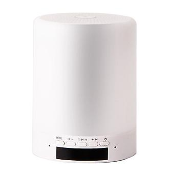 Bluetooth speaker light, LED night light smart bedside table light dimming warm light and 7 colors